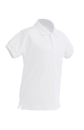 Polo Manica Corta Bambino Bianco 210gr