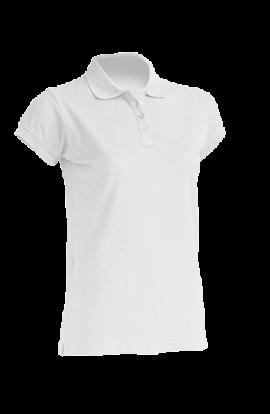 Polo Manica Corta Donna Bianco 210gr