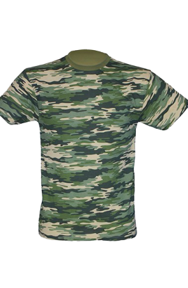 T-Shirt Manica Corta Uomo Camouflage 160gr