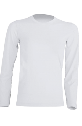 T-Shirt Manica Lunga Bambino Bianco 155gr