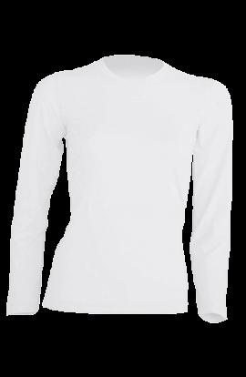 T-Shirt Manica Lunga Donna Bianco 160gr