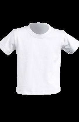 T-Shirt Manica Corta Neonato Bianco 155gr